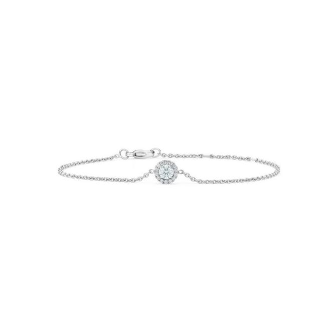 Aura round brilliant diamond bracelet