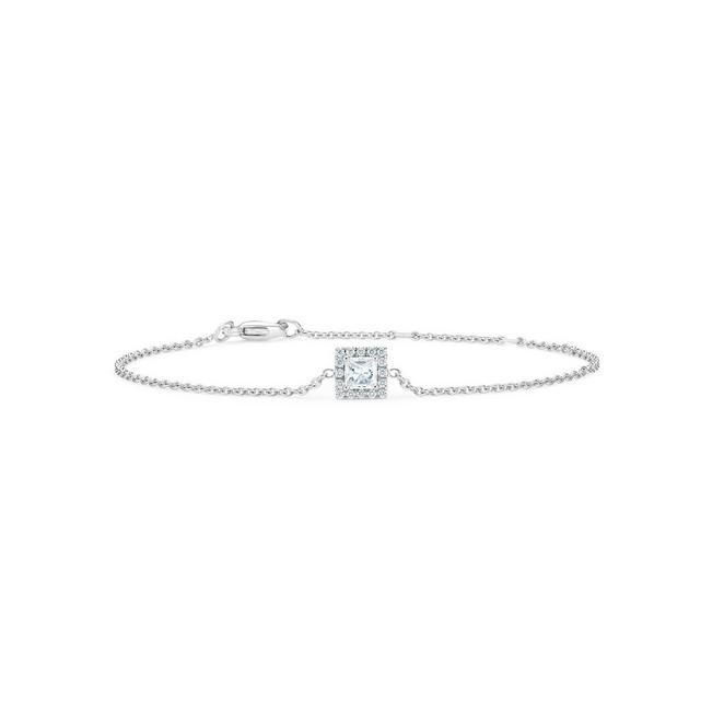 Aura princess-cut diamond bracelet