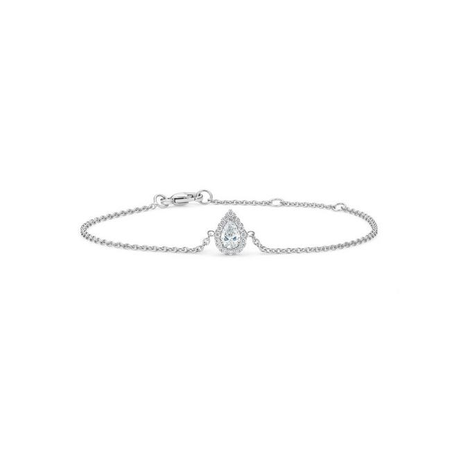 Aura pear-shaped diamond bracelet