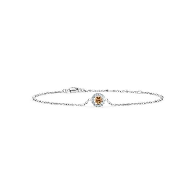 Aura fancy brown round brilliant diamond bracelet