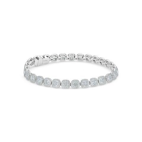 Aura cushion-cut diamonds bracelet 19 cm