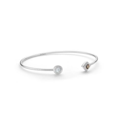 Talisman Essence bangle in white gold