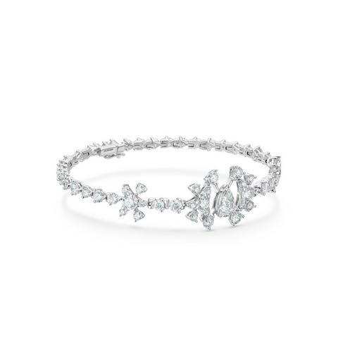 Lea bracelet in platinum 18 cm