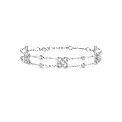 Enchanted Lotus bracelet in white gold 18 cm