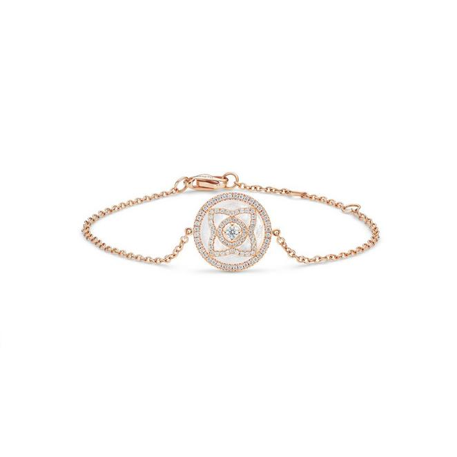 Bracelet Enchanted Lotus en or rose et nacre