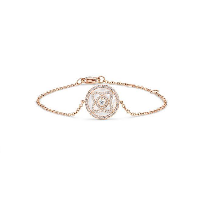 Enchanted Lotus玫瑰金珍珠貝母手鍊