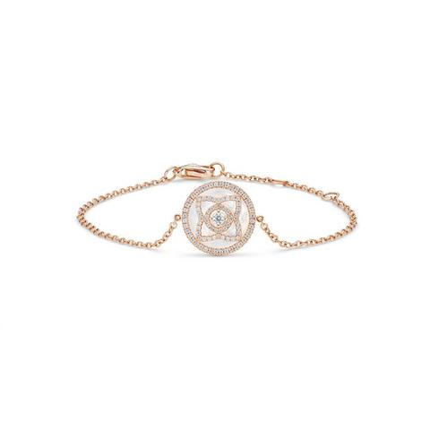 Enchanted Lotus bracelet in rose gold and mother-of-pearl 18 cm