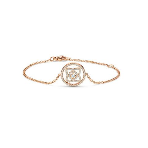 Enchanted Lotus medal bracelet in rose gold 18 cm