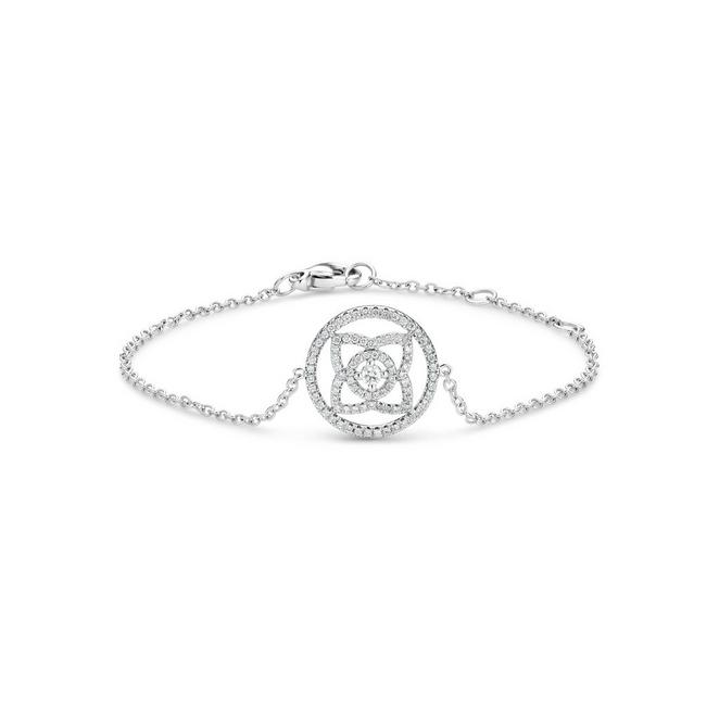 Bracelet Enchanted Lotus en or blanc