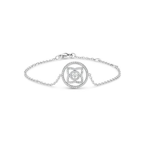 Enchanted Lotus medal bracelet in white gold