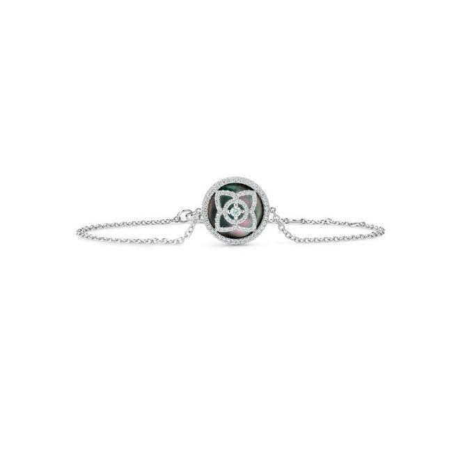 Bracelet Enchanted Lotus en or blanc et nacre