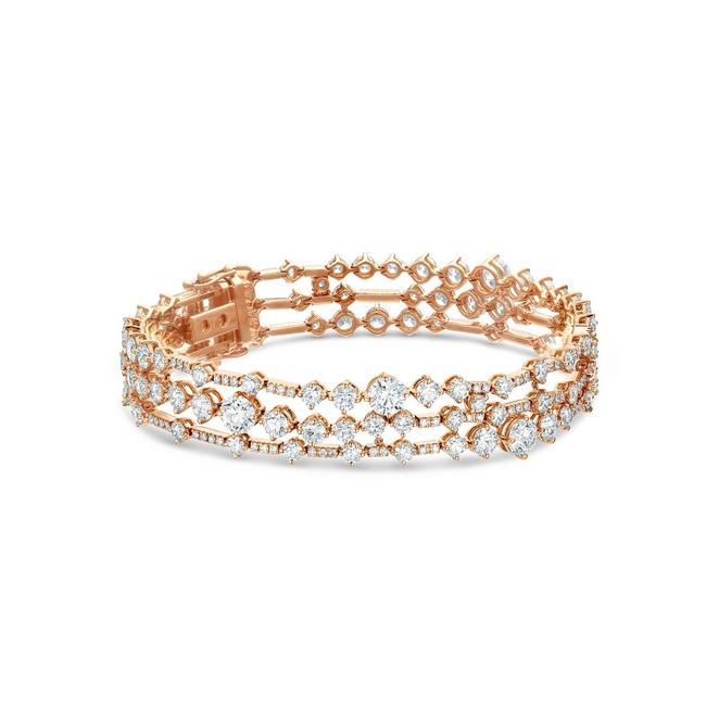 Arpeggia three line bracelet in rose gold