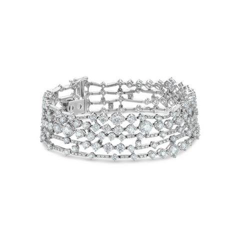 Arpeggia five line bracelet in white gold 18 cm