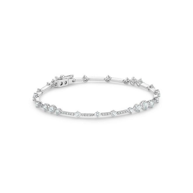 Arpeggia one line bracelet in white gold