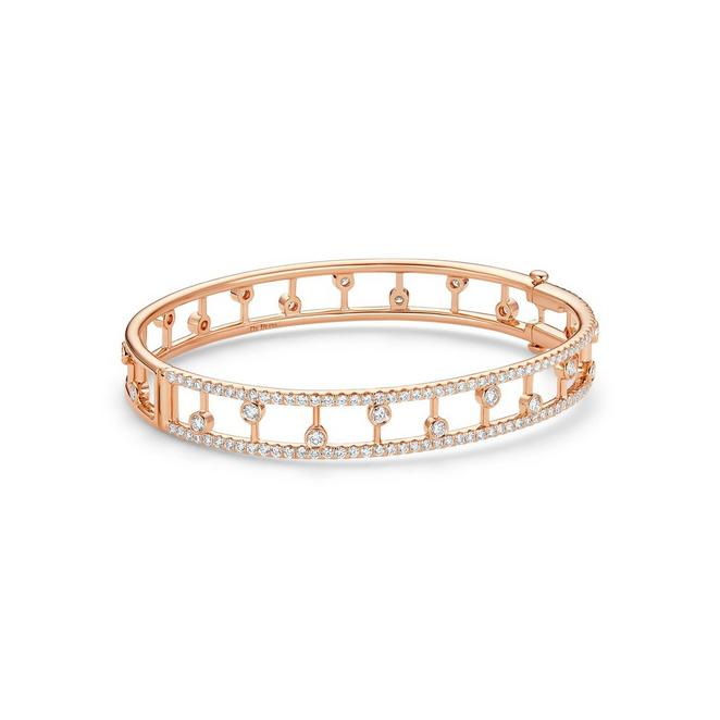 Dewdrop bangle in rose gold