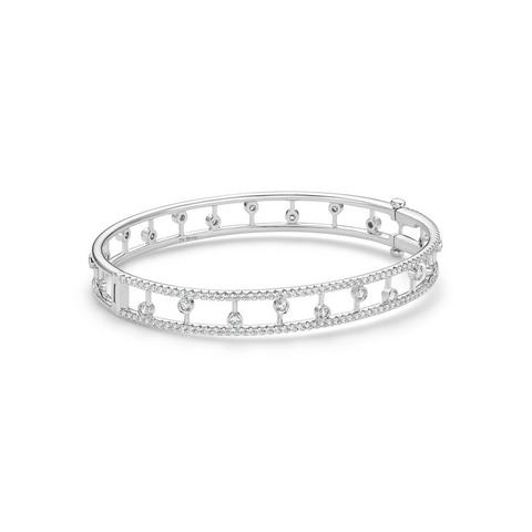 Dewdrop bangle in white gold