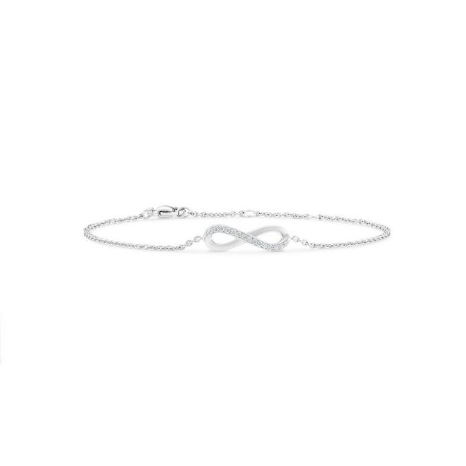 Infinity bracelet in white gold