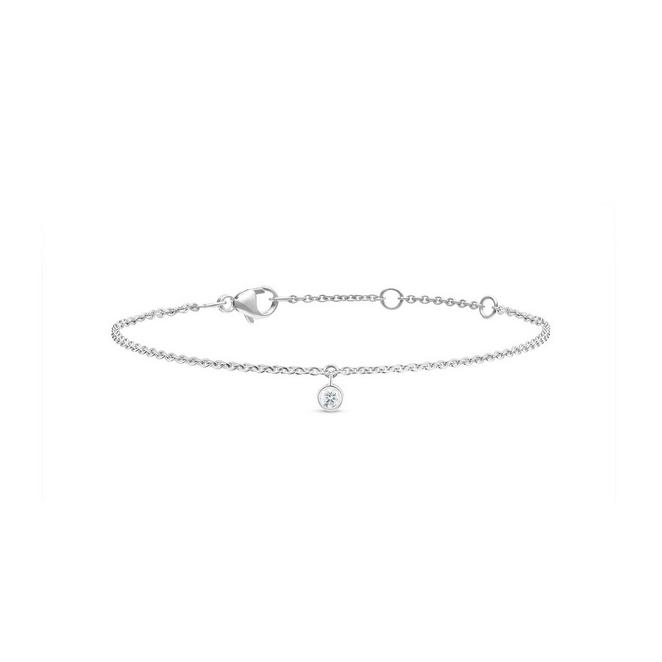 Clea one diamond bracelet in white gold