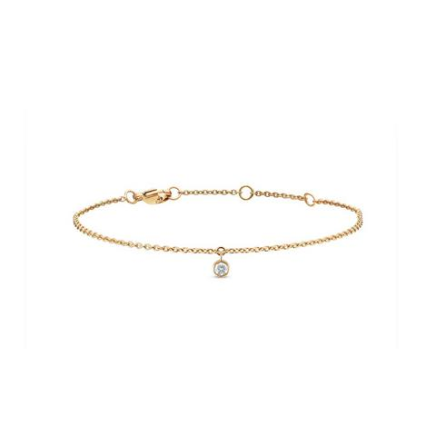 Clea one diamond bracelet in yellow gold 18 cm