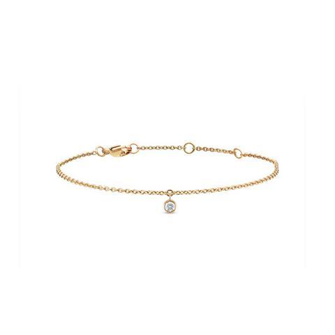 Clea one diamond bracelet in yellow gold