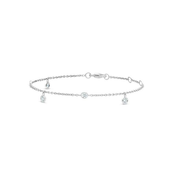 Clea five diamond bracelet in white gold