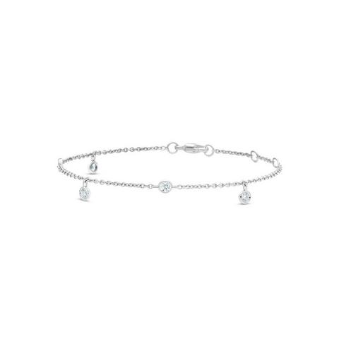Clea five diamond bracelet in white gold 18 cm