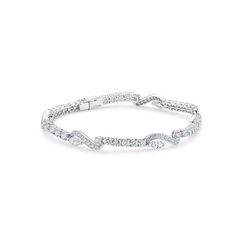Adonis Rose one line bracelet in white gold 18 cm