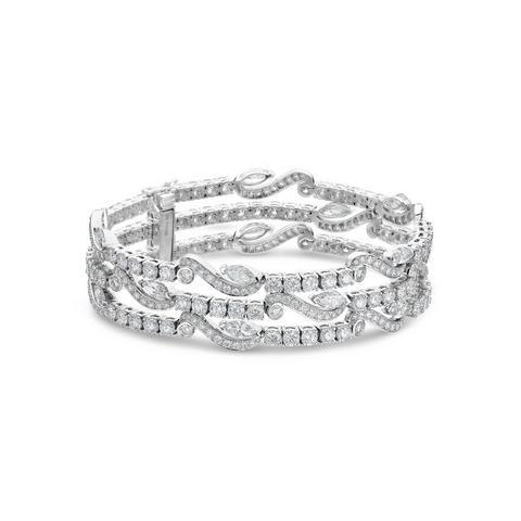 Adonis Rose three line bracelet in white gold