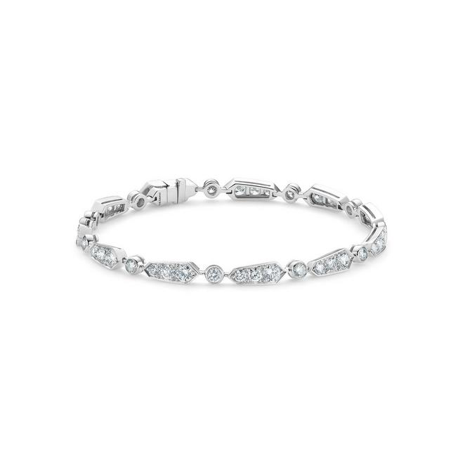 Frost bracelet one line in white gold