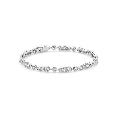 Frost bracelet in white gold 16 cm