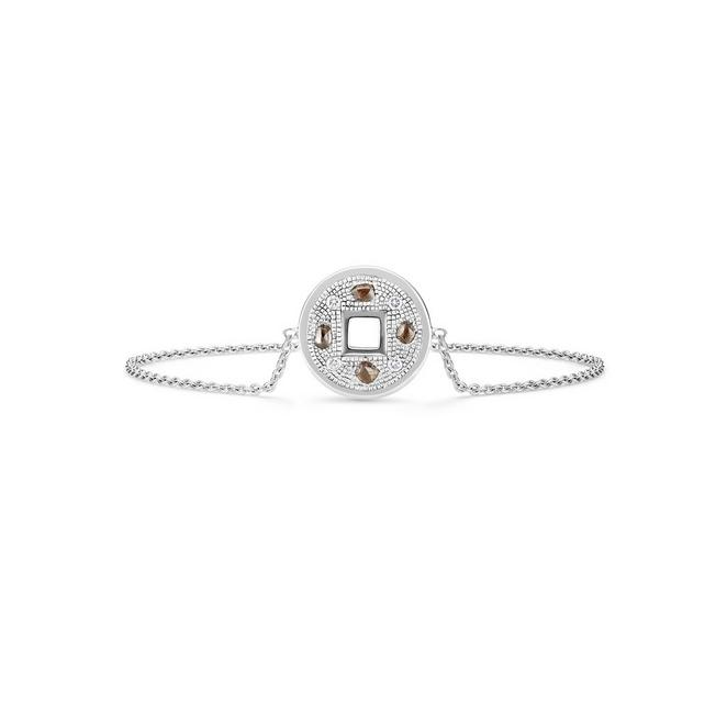 Talisman bracelet in white gold