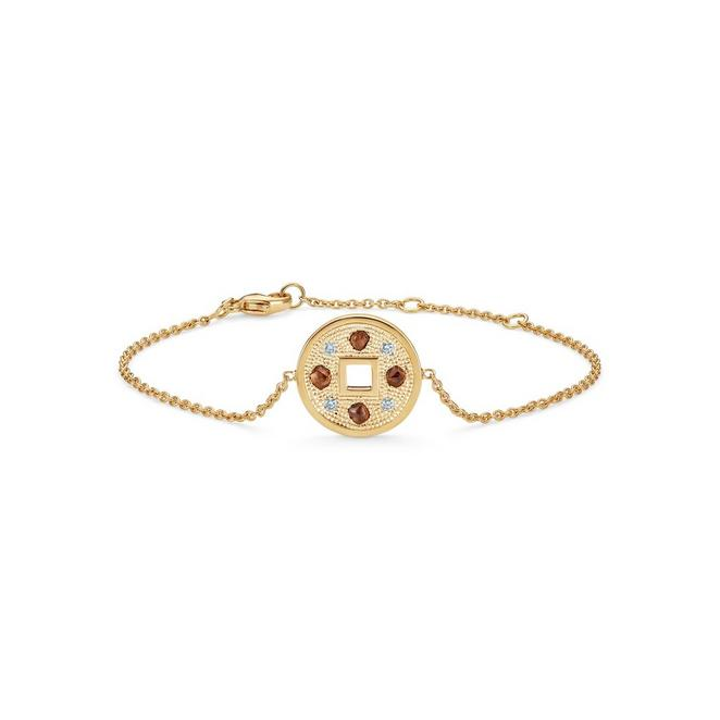 Talisman bracelet in yellow gold