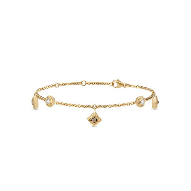 Talisman charm bracelet in yellow gold