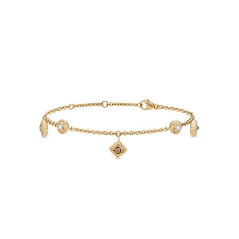 Talisman charm bracelet in yellow gold 18 cm