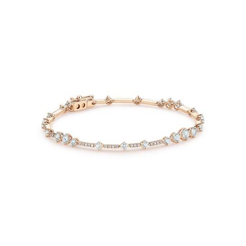 Arpeggia one line bracelet in rose gold