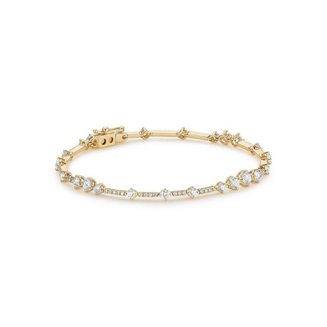 Arpeggia one line bracelet in yellow gold