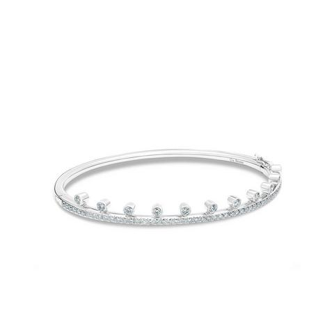 Dewdrop bracelet in white gold