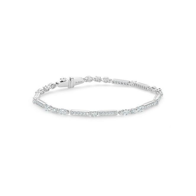 Snow Dance Bracelet in white gold