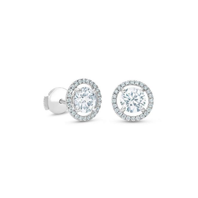 Aura round brilliant diamond studs