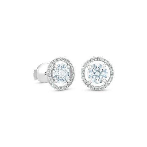 Boucles d'oreilles Aura diamants taille brillant