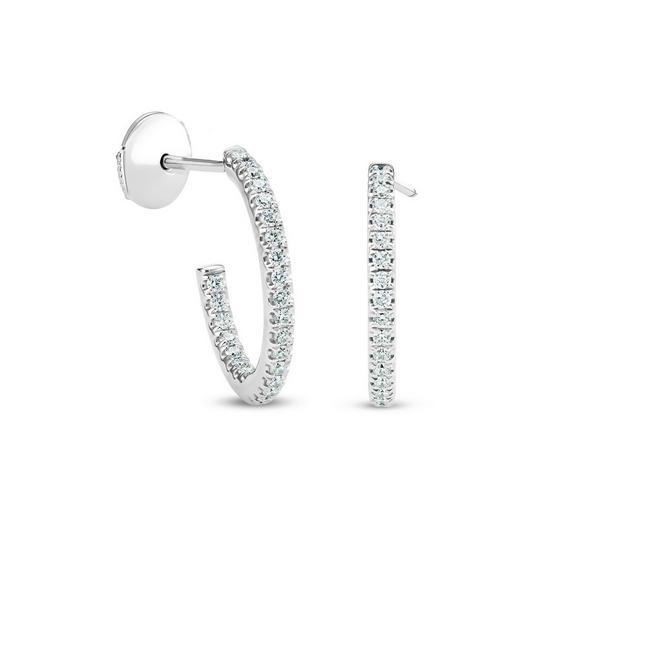 DB Classic 白金钻石耳环