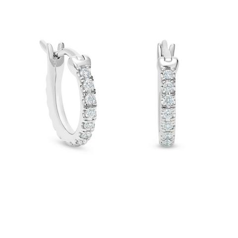 DB Classic hoop earrings in white gold