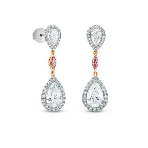 Aura pear-shaped diamond earrings