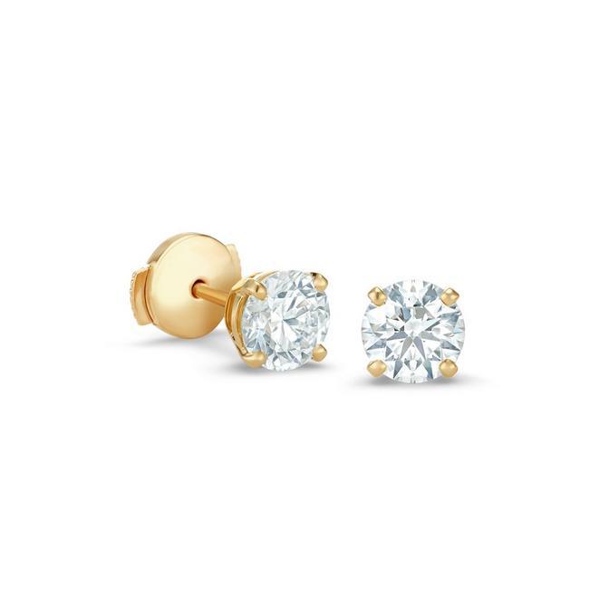 DB Classic黃金圓形鑽石耳釘