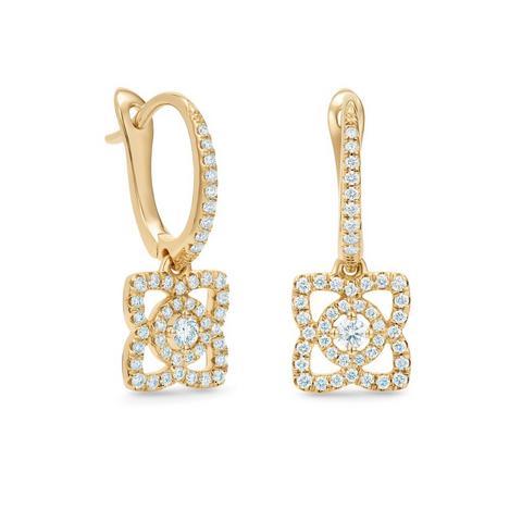 Enchanted Lotus 黄金钻石耳环