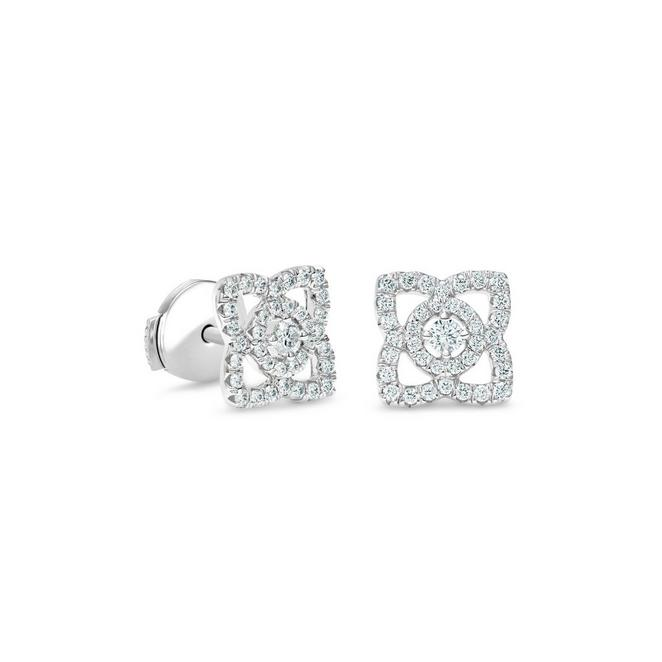 Enchanted Lotus earrings in white gold