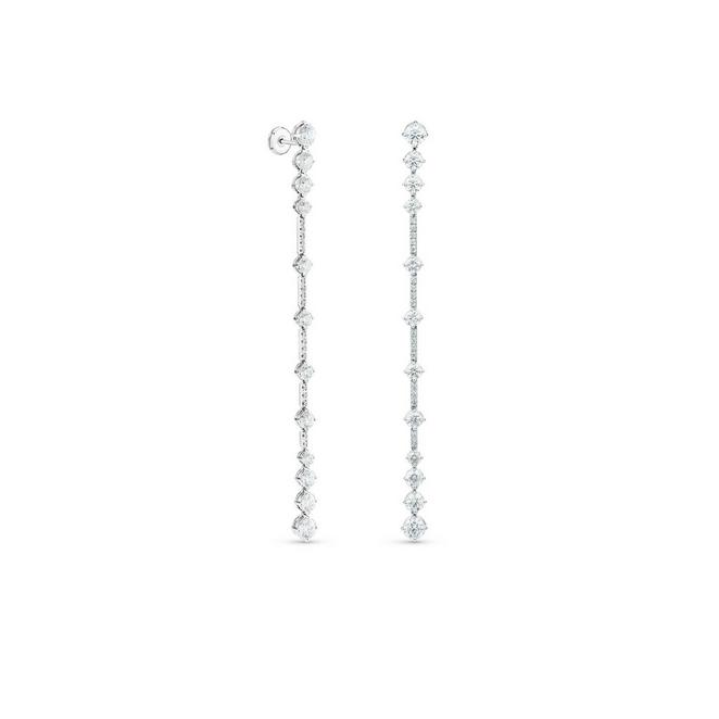 Arpeggia one line earrings in white gold