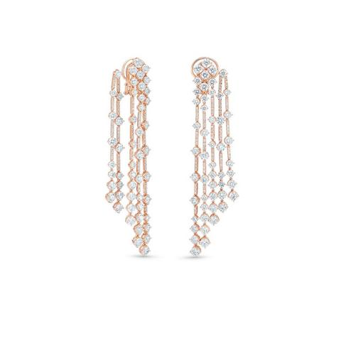 Arpeggia five line earrings in rose gold