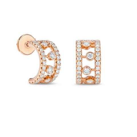 Dewdrop hoop earrings in rose gold