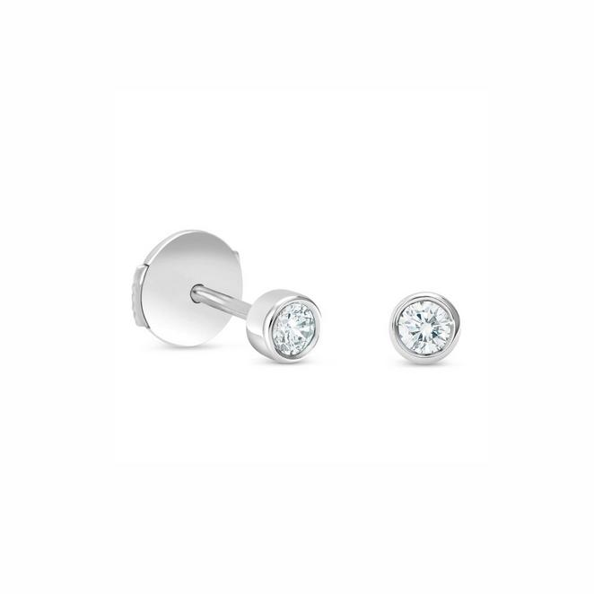 Clea studs in white gold